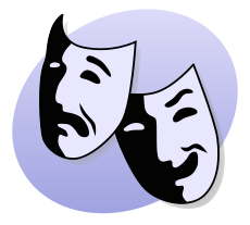 Image of comedy and tragedy theater masks