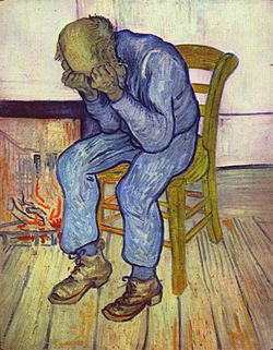 Image of Vincent van Gogh's 1890 painting Sorrowing old man ('At Eternity's Gate')