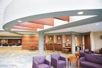 Photo of the lobby of the Depression Center, Rachel Upjohn Building